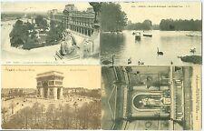 FRANCE: Lot 4 postcards, Paris sent to Russia 1908-14.