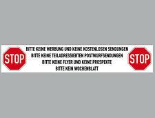 Aufkleber 20cm keine Werbung Reklame kostenlose Lieferung Sendung 4061963068588