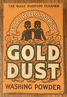 Antique Fairbank's Gold Dust Washing Powder Advertising Box Black Americana
