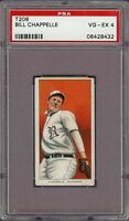 1909-11 T206 Bill Chappelle Piedmont 350 Rochester Minor League PSA 4 VG - EX