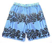 Tommy Bahama Relax Blue Hawaiian Men's Swim Trunks Board Shorts Size Small