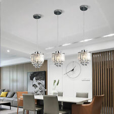 3pcs Modern Crystal Hanging Lamp Pendant Light Chandelier Ceiling Fixtures E26