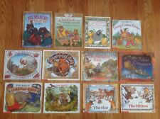 Lot 12 JAN BRETT Picture Books: CHRISTMAS Goldilocks HAT Mitten BERLIOZ & More!