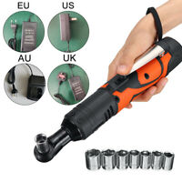 18V Lithium Ion Cordless Impact Wrench Li-ion 3/8 Drive 90° Right Angle Wrench