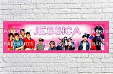 Personalized One Direction Name Poster with Border Mat Art Decor Custom Banner