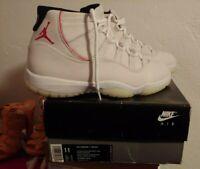 Nike Air Jordan 11 Retro Basketball Shoes Men's Size 11 Platinum Tint Red