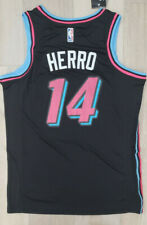New NWT RookieTyler Herro Men's Jersey Miami Black Swingman # 14