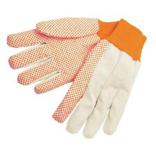 1 Dozen Memphis Dotted Canvas Work Gloves, Large