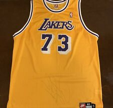 c1bc0e6ac57 Rare Vintage Nike NBA Los Angeles Lakers Dennis Rodman Basketball Jersey