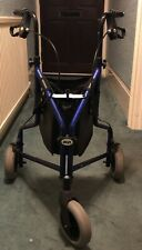 A DAYS Healthcare blue three wheeled walker.