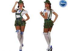 Costume Tirolese Donna Travestimento Carnevale TAGLIA 42/44 Adulto Nuovo
