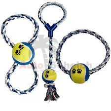 Hundespielzeug Set Ball am Seil Schleuderball Wurfball Zerr Spielzeug Haustier