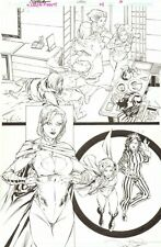 Worlds' Finest #19 p.6 - Great Power Girl - 2014 Signed art by RB Silva