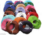 Hotsale! 5 Meter Real Leather Rope String Cord Necklace Charms 1.5/2.0 mm U Pick
