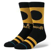 STANCE Men's Crew Socks BLACK BALLED - BLK - Medium(6-8.5) - NWT