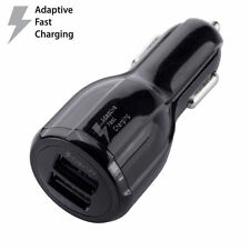 OEM Original For Samsung Dual Port Fast Car Charger for Galaxy S6 S7 Edge Black