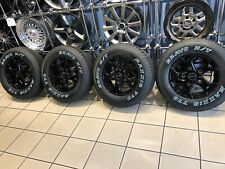 "16"" ALLOY WHEELS FORD TRANSIT CUSTOM MAXXIS ALL TERRAIN TYRES GLOSS BLACK"