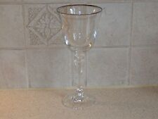 SCHOTT ZWEISEL CRYSTAL PAGEANT PATTERN WINE STEM PLATINUM TRIMMED 7 7/8""