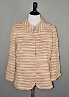 Dana Buchman For Neiman Marcus Women's Metallic Striped Blazer Size 10 NEW $595