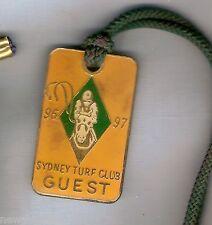 #D231.  SYDNEY TURF  CLUB  GUEST BADGE 1996-97 #1912