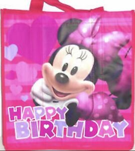 Disney Store MINNIE MOUSE Happy Birthday Ecology Reusable Shopping Bag New Tote