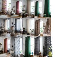 Cotton Linen Curtains For Boho Tassel Living Room Bedroom Window Curtain Drapes