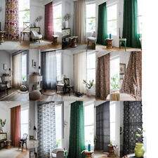 Cotton Linen Curtains For Boho Tassel Living Room Bedroom Window Curtain Drapes