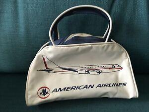 Vintage Mini American Airlines Zipper Bag w/ Handles See Pics