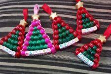 Personalised christmas tree decorations