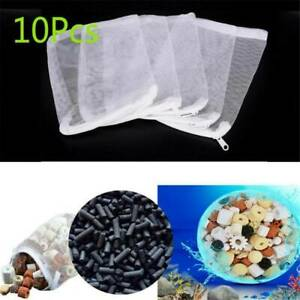 10 pcs Filter Media Mesh Bags 20*15cm Zipper Reusable aquarium fish tank pond