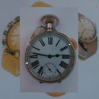 WW1 Silver Goliath Patent 8-Day Patent Military 17J Omega Hi-Grade Watch 191
