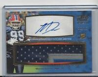 MARCELL DAREUS 2011 TOPPS PRIME LEVEL 4 JUMBO 3 COLOR PATCH AUTO RC #D 10/15