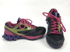 Reebok Zigtech Womens Size 6.5 Black Purple Pink Green Trail Running 1409fe4bc