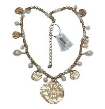 CHICO'S GIGI SHORT FAUX-PEARL SHINE PENDANT NECKLACE--NEW WITH TAG