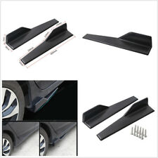 2X Matt Black PP Vehicle Side Skirt Rocker Splitter Antiscratch Diffuser Spoiler