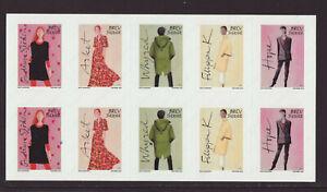 Sweden 2019 MNH - Swedish Fashion, Gudrun Sjöden - booklet of 10 stamps