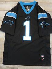 Cam Newton  1 Carolina Panthers NFL Black edition Jersey Youth Children LG  14-16 44bcb175c