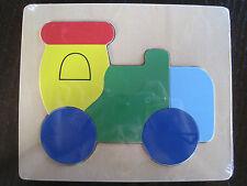 5-delig houten puzzeltje - Trein - Nieuw