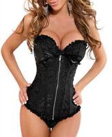 Women Sexy Party Bustier Boned Corset Outfit Shaper Basques+Lingerie/Skirt S-6XL