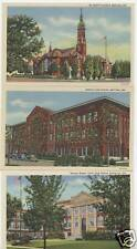 WHITING INDIANA POSTCARDS SET OF 5 WHS, GRC, St. Mary's