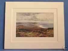 POOLE HARBOUR FROM STUDLAND DORSET VINTAGE DOUBLE MOUNTED HASLEHUST PRINT 10X8
