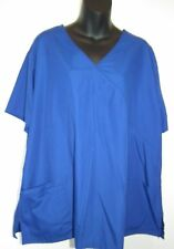 New Simple Basic Scrub Top 2x Plus Size Electric Blue
