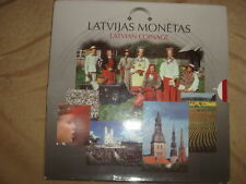 Latvia Lettland official set All coins 1992 year RARE LOOK all types Pre euro
