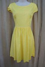 B. Darlin Juniors Dress Sz 7 / 8 Yellow Cotton A-Line Casual Summer Tea Dress