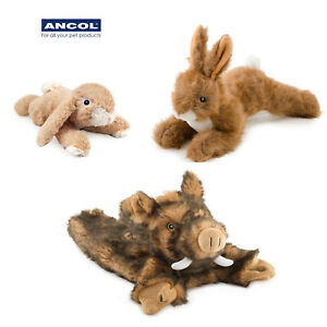 Ancol Plush Toy Soft Pet Owl Rabbit Hare Hog Small Large Comfort Small Large