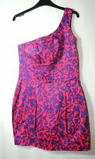 PINK PURPLE LADIES FORMAL PARTY CLUBWEAR DRESS LIPSY SIZE 12 BUBBLE ONE SHOULDER