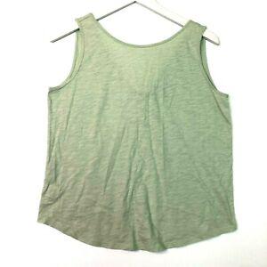 Loft vintage soft sleeveless seafoam green tank top tie back size small
