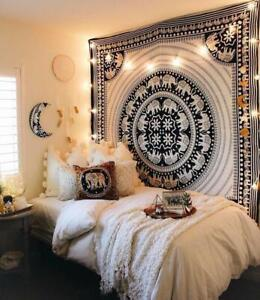 Mandala Multi Color Print Tapestry Indian Boho Wall Hanging Queen Size Tapestry