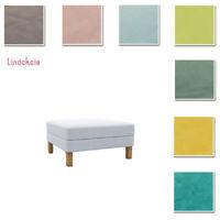 Custom Made Cover Fits IKEA Karlstad Footstool, Ottoman Cover, Velvet Fabric