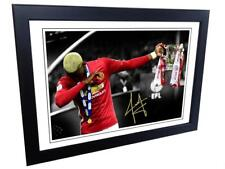 """12x8 Signed """"THE DAB"""" Paul Pogba Manchester United Photo Photograph Picture Gift"""